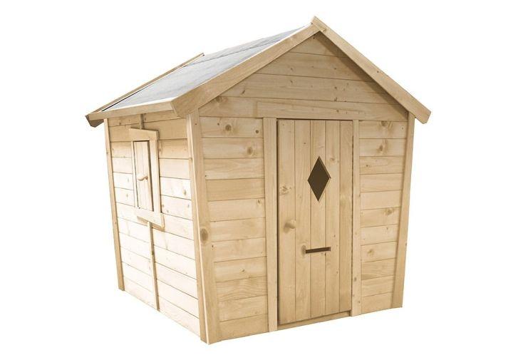 cabane pour enfant en bois FSC brut à peindre et à traiter