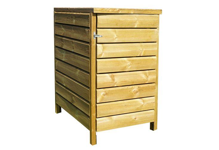 Cache poubelle en bois traité 61 x 96,5 x 120 cm