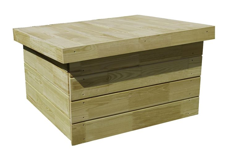 Abri pour tondeuse robot en bois traité 87 x 76 x 52 cm