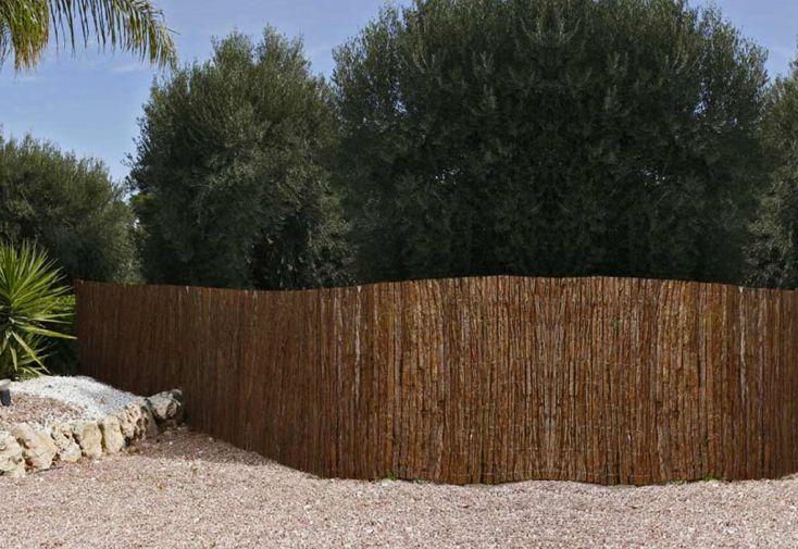 Clôture Naturelle en Ecorces de Pins (1x5m)