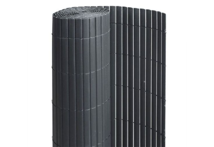 canisse PVC anthracite gris foncé lamelles occultation 90 %