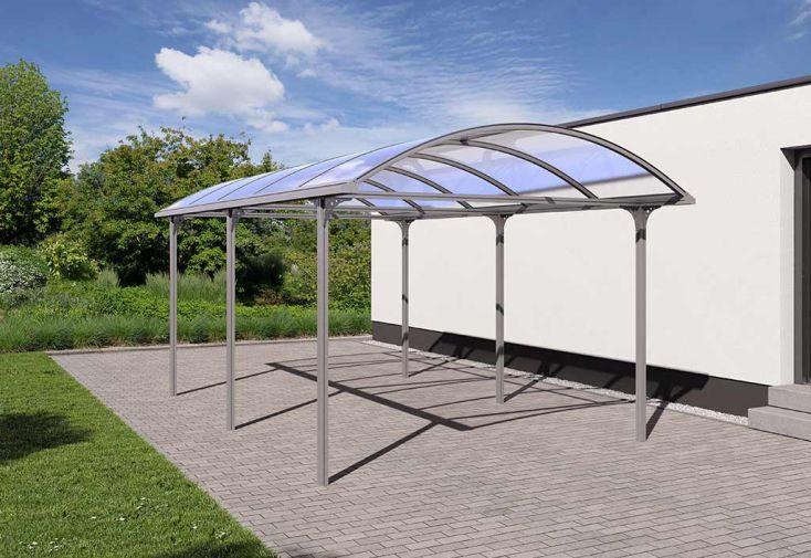 carport aluminium 6 poteaux avec toit en polycarbonate