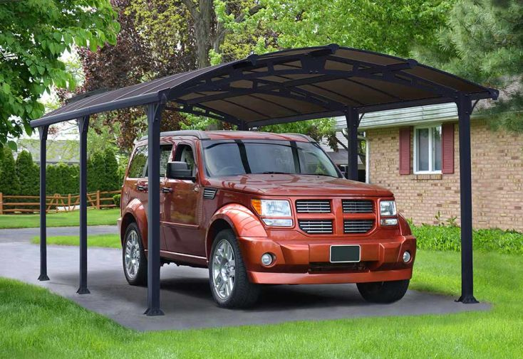 carport aluminium toit rond Almicar de la marque Palram