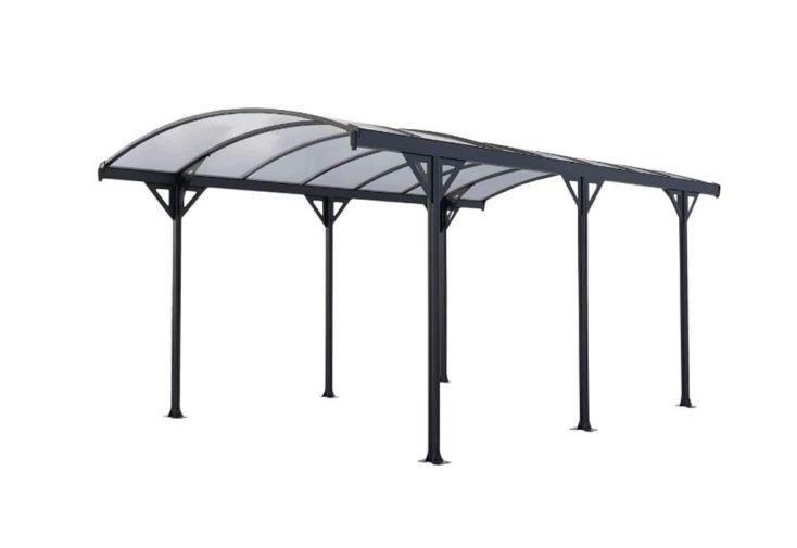 carport en aluminium et polycarbonate 6 mm couv voiture 5. Black Bedroom Furniture Sets. Home Design Ideas