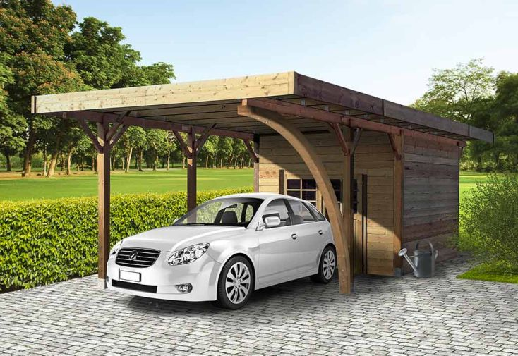 Carport  Abri De Jardin En Bois Trait Autoclave XM  Solid