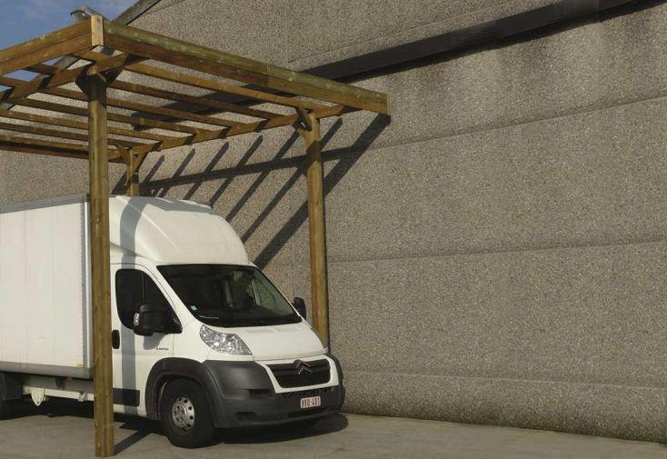 Carport en Bois Autoclave pour Camping Car (506x406cm)