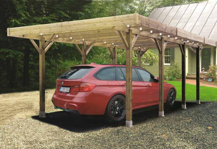 Carport Bois Autoclave Modulable 4 x 5 m