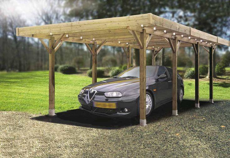 Carport Bois Autoclave Modulable 5 x 5 m