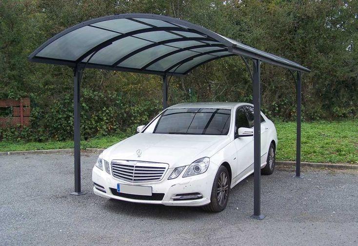 Carport Aluminium et Polycarbonate 305x485x250
