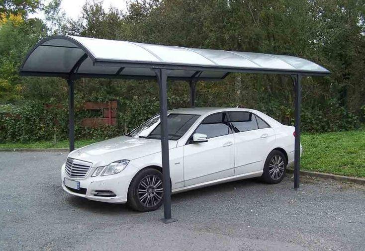 Carport en Aluminium à Toit Rond en Polycarbonate