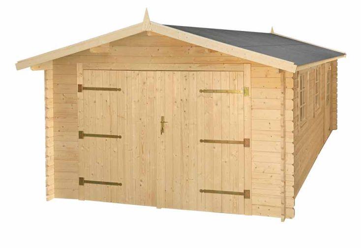 Garage Bois Emboité 34 mm (3,55x5,35x2,43)