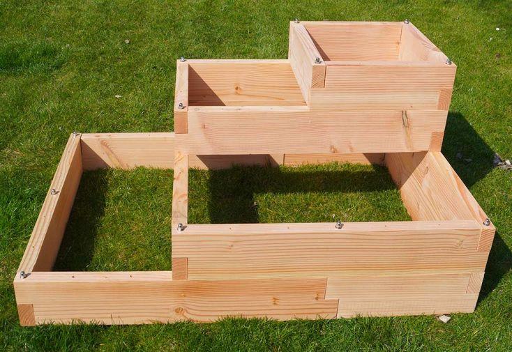 Carré potager avec étages en bois Douglas Graphik
