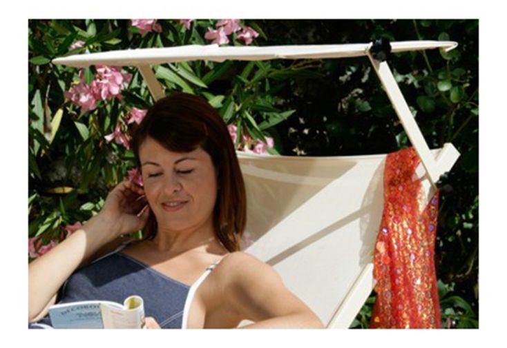 pare soleil pour transat bain de soleil détente sous le soleil