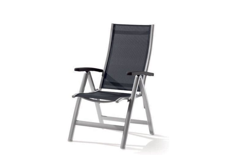 Chaise de Jardin Alu et Textilux Pliable Montesa (lot de 6)
