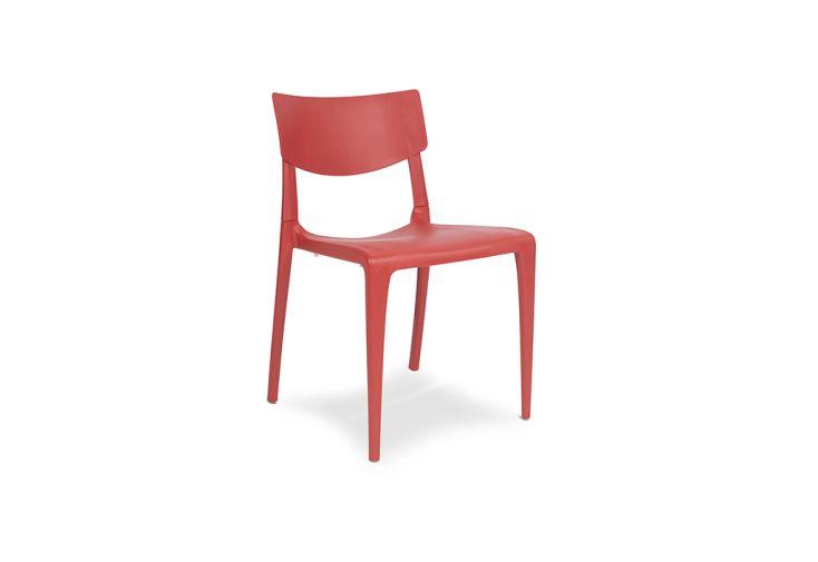 chaise de jardin polypropylène brique