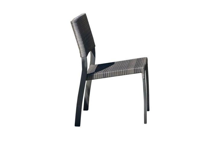 Chaise de Jardin Aluminium et Résine Tressée