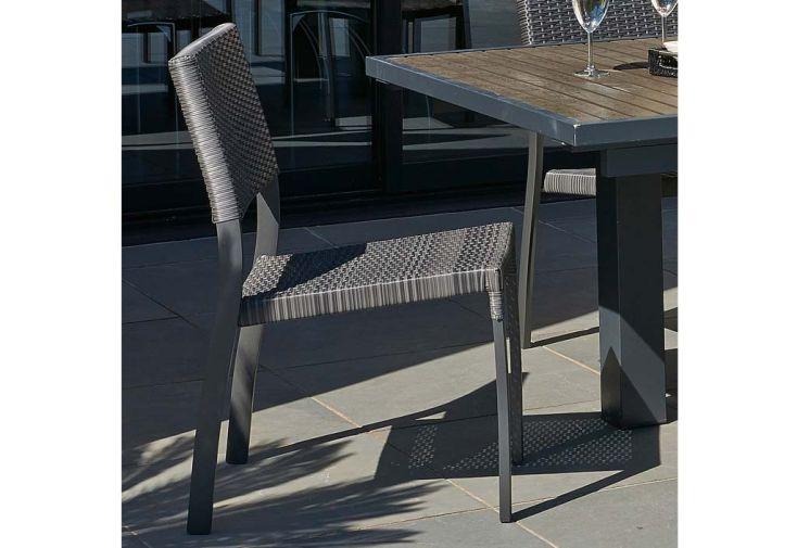 Chaise de jardin aluminium et r sine tress e dcb garden - Chaise de jardin pvc ...