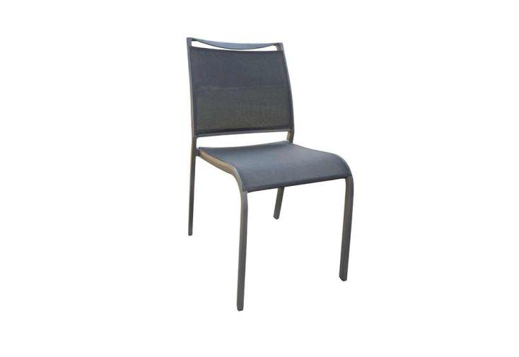 chaise de jardin empilable en aluminium et textilène