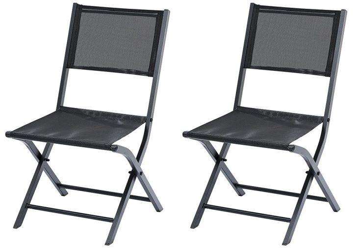 salon de jardin chaise pliante