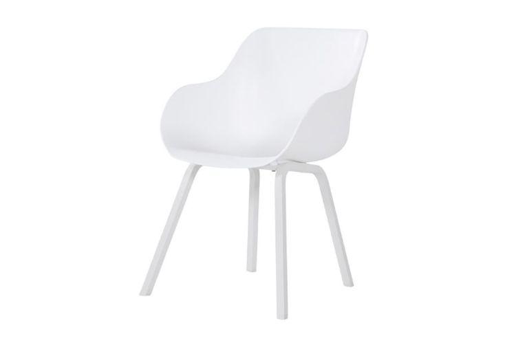 Chaise de Jardin Aluminium et Résine Hartman Sophie Element Organic Blanc