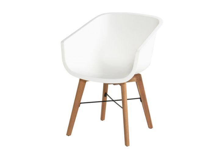 Chaise de jardin en bois d'acacia et résine Hartman Amalia blanc
