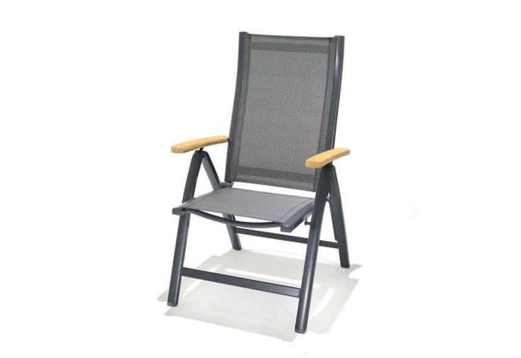 Chaise de Jardin Pliante en Aluminium et Polyester Mountfield Angela Deluxe