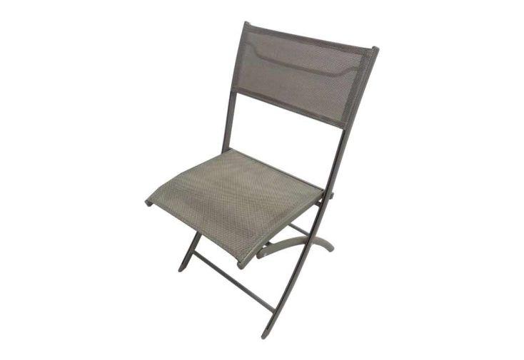 chaise de jardin faible encombrement pliante en aluminium