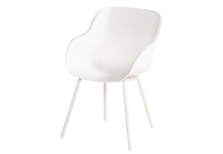 Chaise de jardin résine et aluminium Hartman Sophie Rondo Elegance blanc