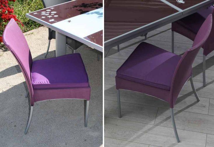 Chaise de Jardin Textilène Fuchsia + Coussin