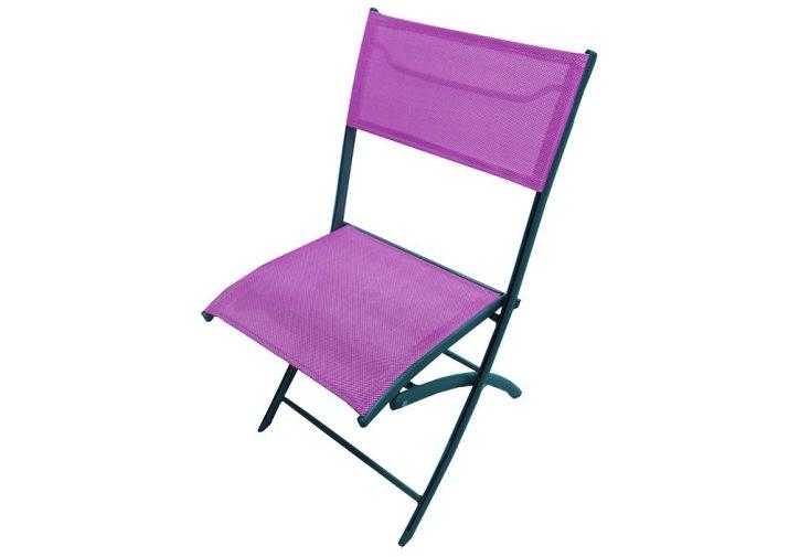 Chaise de Jardin Textilène Pliante Prune