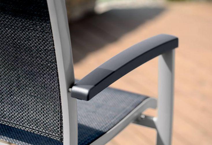 Chaise de Jardin Alu et Textilux Empilable Royal (lot de 6)