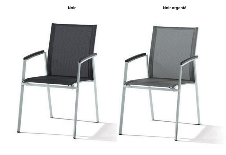 chaise en inox et textilux