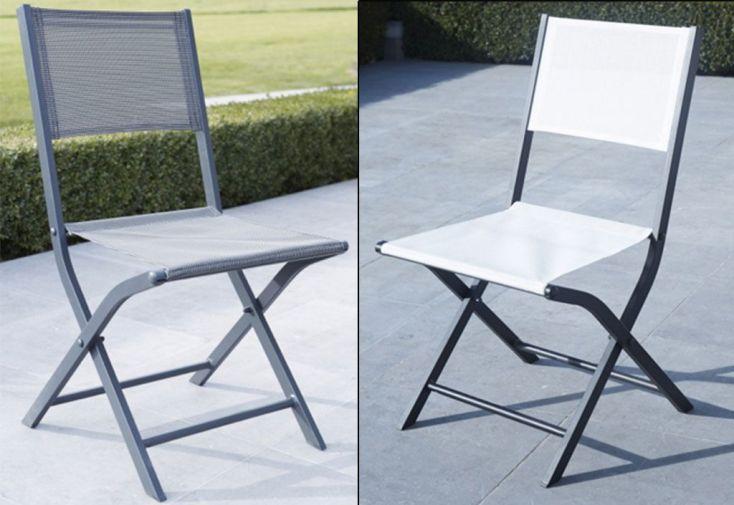 Lot de 2 chaises pliantes modulo blanches ou grises wilsa - Lot chaises pliantes ...