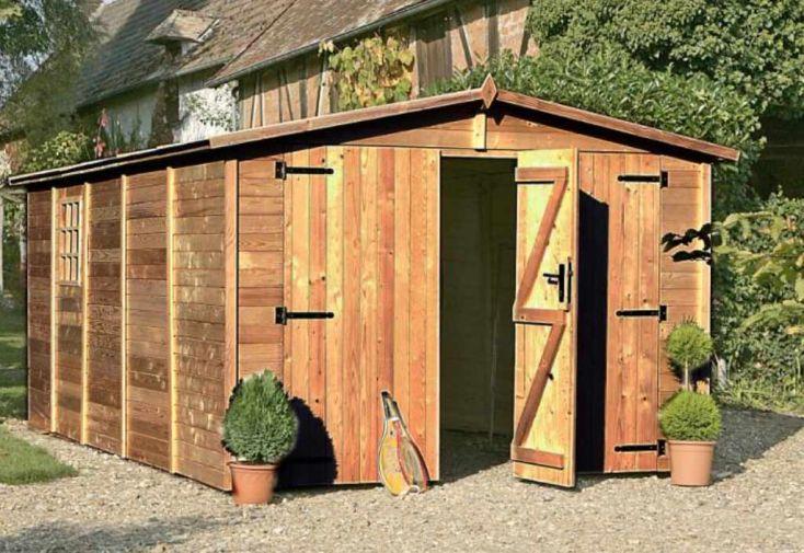 Garage Bois Albatros Traité (3,03x4,90x2,22) 19 mm