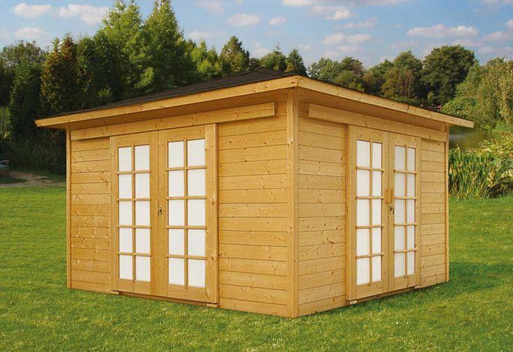Abri de jardin bois pavilion 28mm 363x363cm solid for Abris de jardin solid belgique