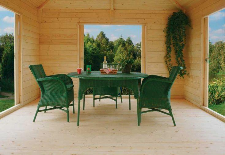 Abri de Jardin Bois Pavilion 28mm (363x363cm)