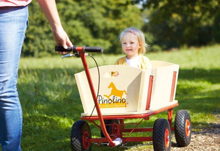 Chariot de Plage en Bois Til avec Frein
