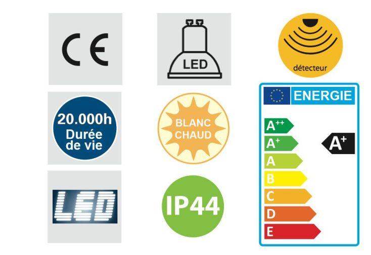 Eclairage d'Extérieur LED (310x170mm)