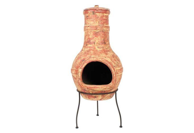 cheminée mexicaine en argile couleur terre