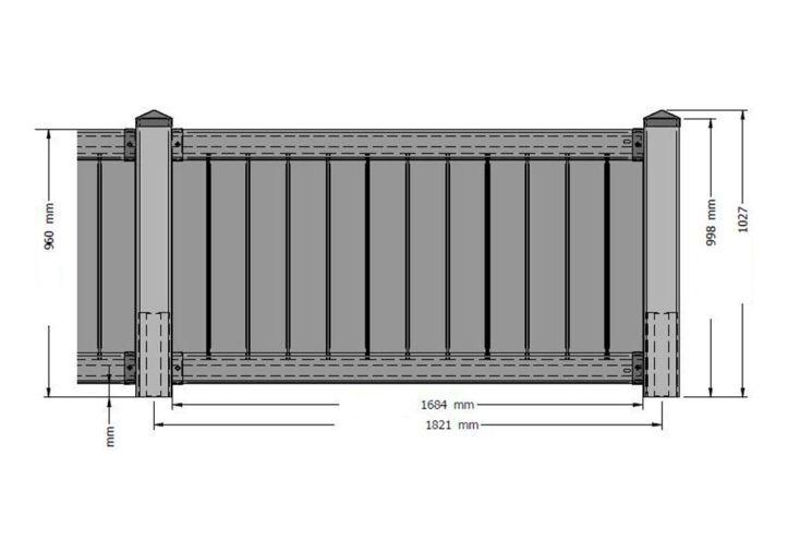 Kit Panneau Polypropylène 195x12,5x102,5cm (l,l,h) de 10 à 30 P