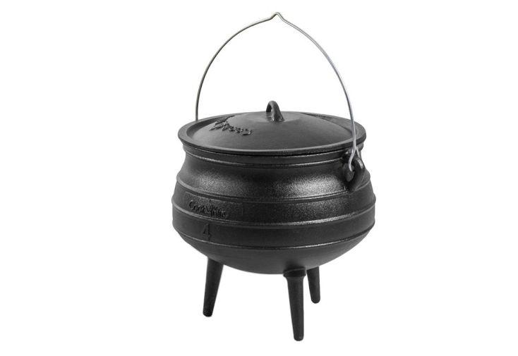 cocotte en fonte style chaudron africain fabriqué manuellement, 3 dimensions