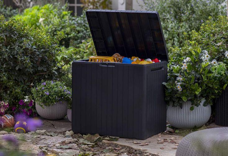 Coffre de jardin Keter carré en plastique City Cube 113 L