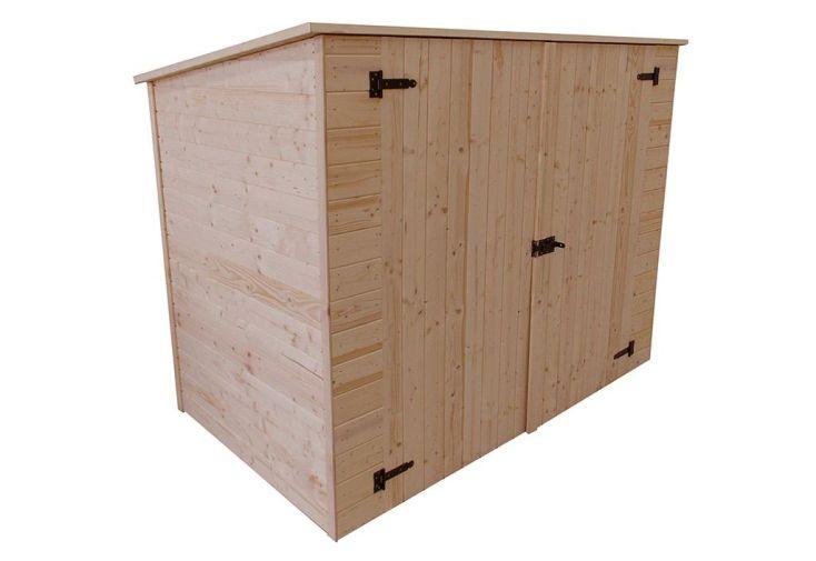 coffre de rangement bois pour v los motos 125 x 220 x 162 cm habrita. Black Bedroom Furniture Sets. Home Design Ideas
