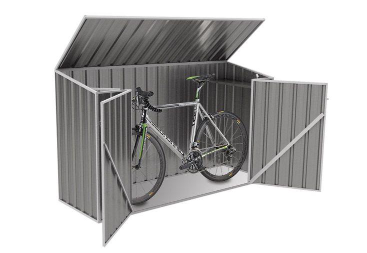 Coffre de Rangement Vélos en Métal Jasper (78x300x131cm)