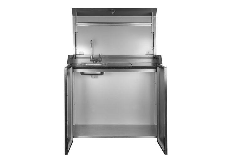 Cuisine extérieure en acier avec évier et plaque à induction Stengel Duplex Box 1