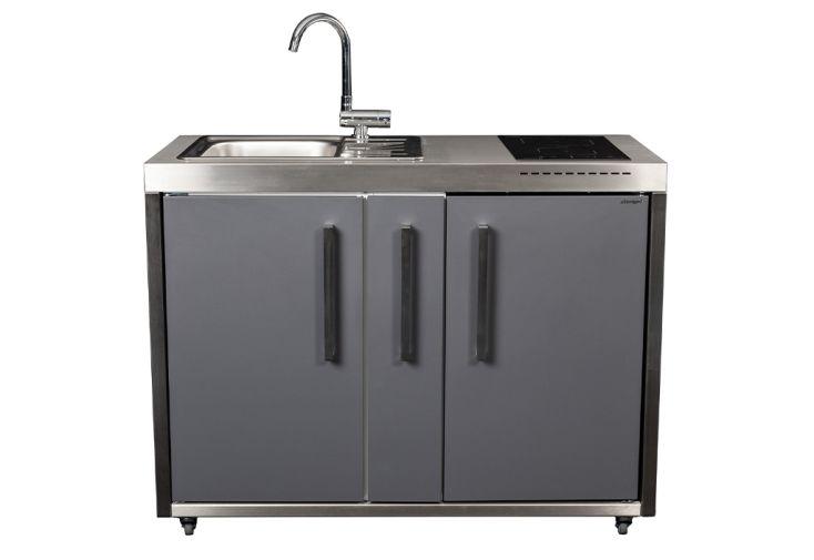 Cuisine extérieure avec évier, réfrigérateur, plaque à induction – MO 120 A