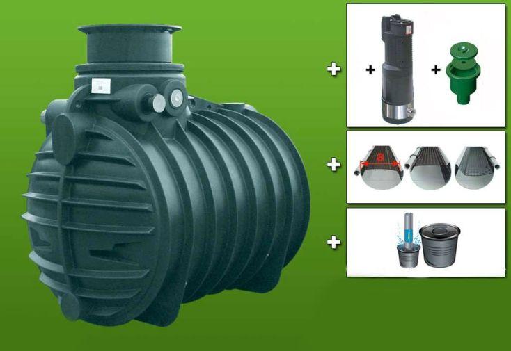 Cuve recuperateur eau Ready 3400 L