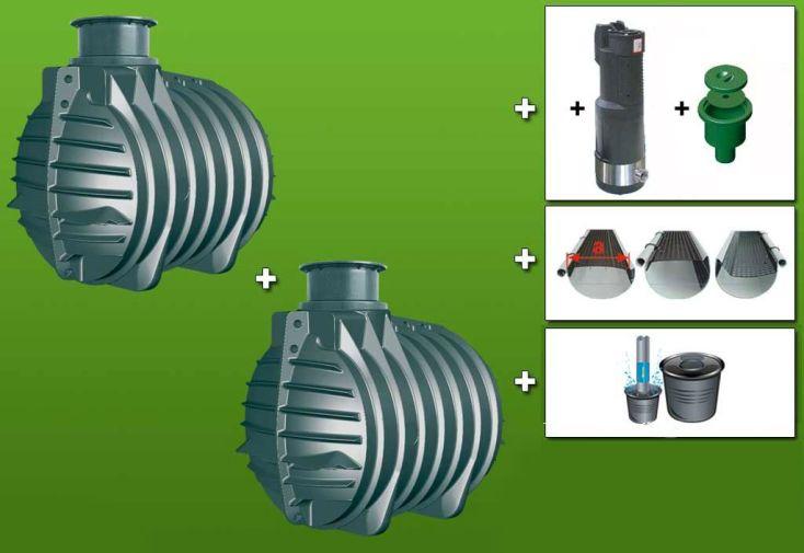 Cuve recuperateur eau Ready 9000 L