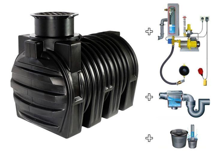 Cuve recuperateur eau Clever A 3400 L