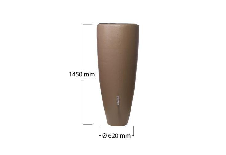 Cuve Récupération Eau de Pluie 2 en 1 Taupe 300 L